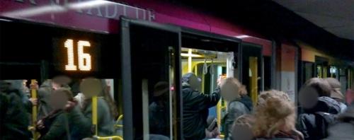 Die U-Bahn wurde am Freitag zum Beben gebracht